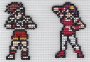X-Stitch Joe and Athena by missy-tannenbaum