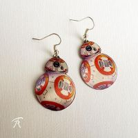 BB8 Earrings by TrollGirl