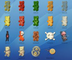Gummi Anatomy OSX Icons by freeny