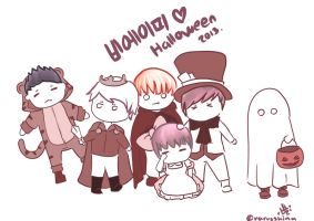 B.A.P Halloween by NarussHina