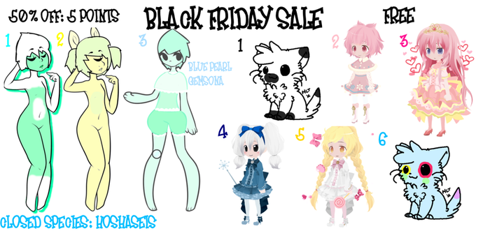 [POINT ADOPTS LEFT] BLACK FRIDAY SALE! {3/9 OPEN} by ultimatequeenofciel