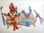 Gearstalkers - Zabel/lord raptor and I-no by erickermr