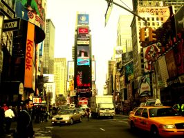 Times Square, New York City by abbiew92