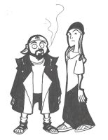 jay and silent bob by morbidmeg