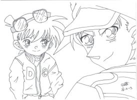 Conan and Heiji by UsagiTail