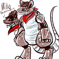 Millo the Armadillo-Fnaf Fc by ShinyMeowstic