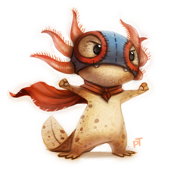Day 541. Sketch Dailies Challenge - Luchador by Cryptid-Creations
