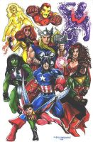 Classic Avengers by olybear