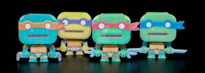 mini TMNT Papercraft by henrydig