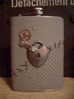 Sewn Back Up Steampunk Flask by Justenjoyinglife