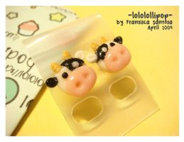 Moo Moo Cow Earrings by lololollipop