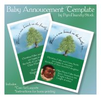 Baby Announcement Template by PyroNsanity-Stock