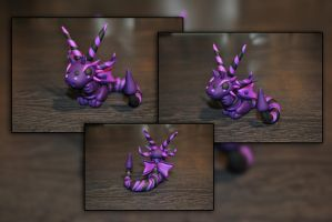 Baby Blackberry Dragon by KirstenBerryCrafts
