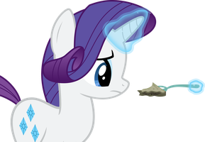 Rarity Staring at Pie by Stayeend