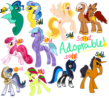 Pony Adoptables SOLD OUT by Sakuyamon