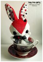 Alice in Wonderland Teacup Bunny - SOLD by tiny-tea-party