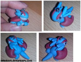 Chibi Salamence Charm by Swadloon