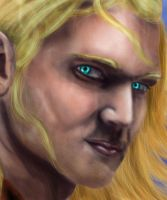 Closeup of Aquaman's Face by Zchanning