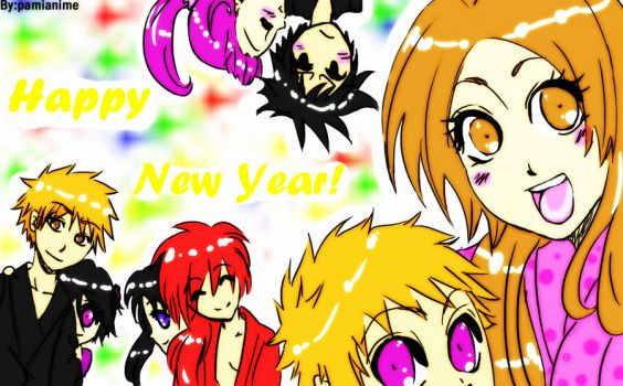 Happy new year and thank you by Pamianime