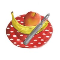 Fruit on a plate XD by Princess-Shannen