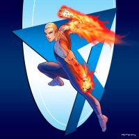 Fantastic Four: Human Torch by arunion