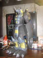 BlackWarGreymon papercraft by Zimberdum