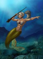 mermaid warior by mentarie