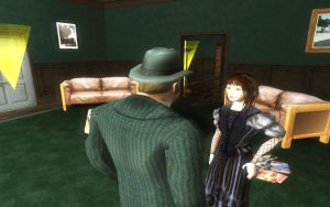 Violet and Mr. Poe in GTASA by huckleberrypie