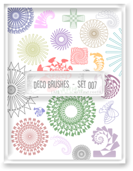 decorative brushes - set 007 by willowtree84