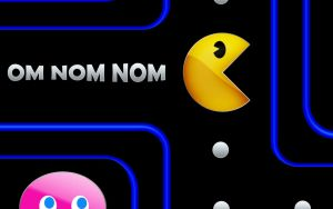 PacMan - Om Nom Nom by awe-inspired