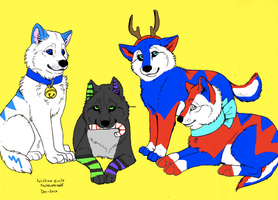 Xmas Group Pic part 1 by liongirl2289