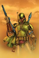 boba fett color battle by Javilaparra