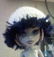 Monster High - Crocheted White Hat by XantheStar