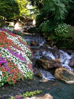 Garden with waterfall stock 6 by FairieGoodMother