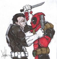 punisher vs deadpool by ChrisOzFulton