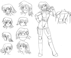 Saeko Model Sheet by wbd