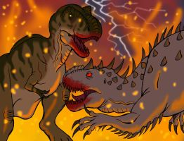 Battle for Jurassic World by DaBrandonSphere