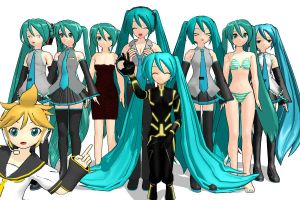 MIku Miku every where! by ultimate44