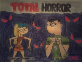 Total Drama: The Movie Preview Poster 'Halloween' by KawaiiWonder