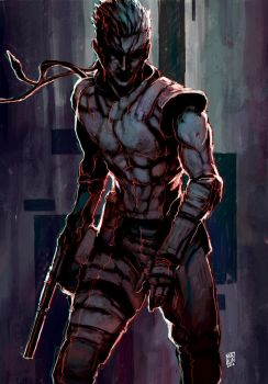 Solid Snake by Nerkin