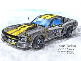Ford Mustang 1967 Eleanor by TheXHS