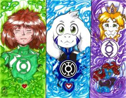 DC Lantern Corps x Undertale 1 of 3 by wsache2020