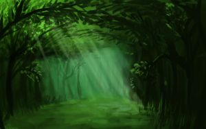 Forest Speedpaint by IRON6DUCK