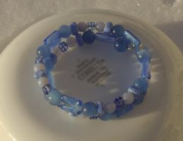 Blue Coil Bracelet Closeup 4 by Windthin