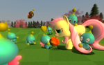 Fluttershy Chao Care by FrankRT