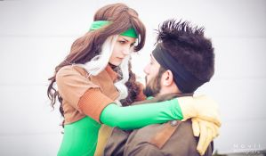 Rogue and Gambit by PurelightCos