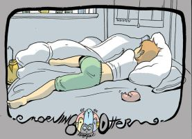 Marian sleeps by royalboiler