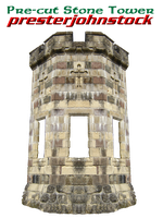 Pre-cut Stone Tower by presterjohnstock