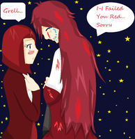 Madam Red and Grell- I failed you by AmericaFangirl