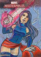 Psylocke Marvel AP Sketch Card by kayjkay
